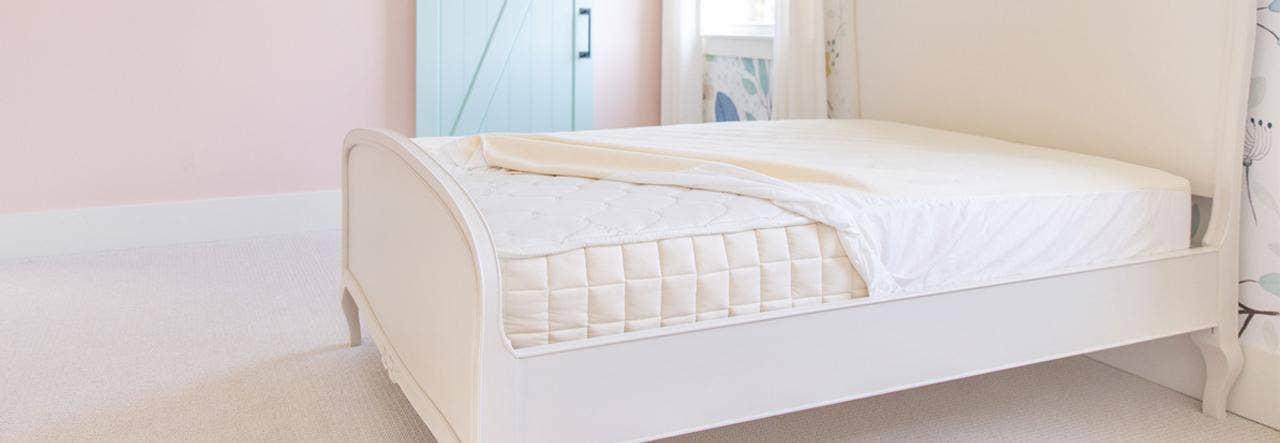 naturepedic organic mattress protector pad on verse organic mattress