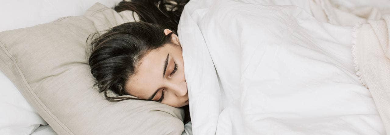 woman sleeping cozy