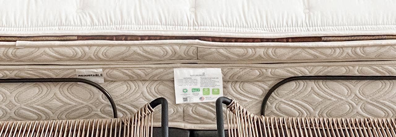 naturepedic organic mattress label