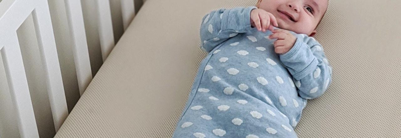 infant on mc46 naturepedic breathable crib mattress