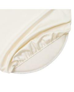 Organic Cotton Crib Oval Sheet Ivory (Fits Stokke Sleepi)