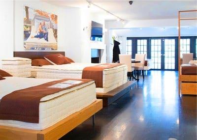 mattresses inside organic mattress gallery in Manhattan New York
