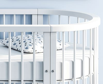 Organic Cotton Oval Crib Mattress