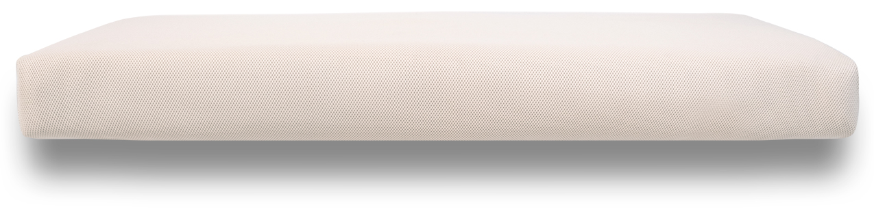 Side view of breathable crib mattress