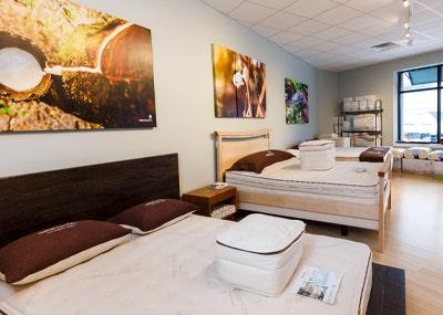 mattresses inside organic mattress gallery in Wellesley Massachusetts