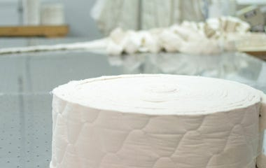 Roll of quilted organic cotton